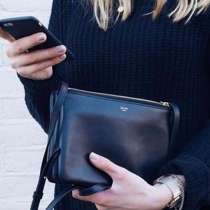 CELINE Trio Bag Black